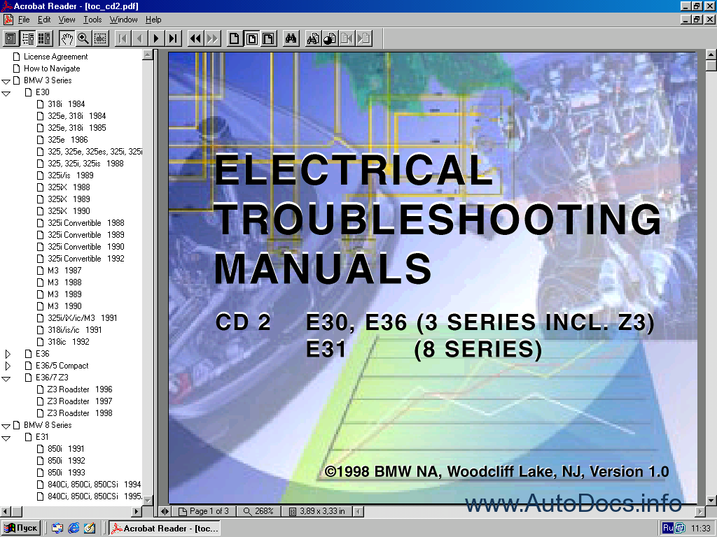 Bmw Electrical Troubleshooting Manual 1982