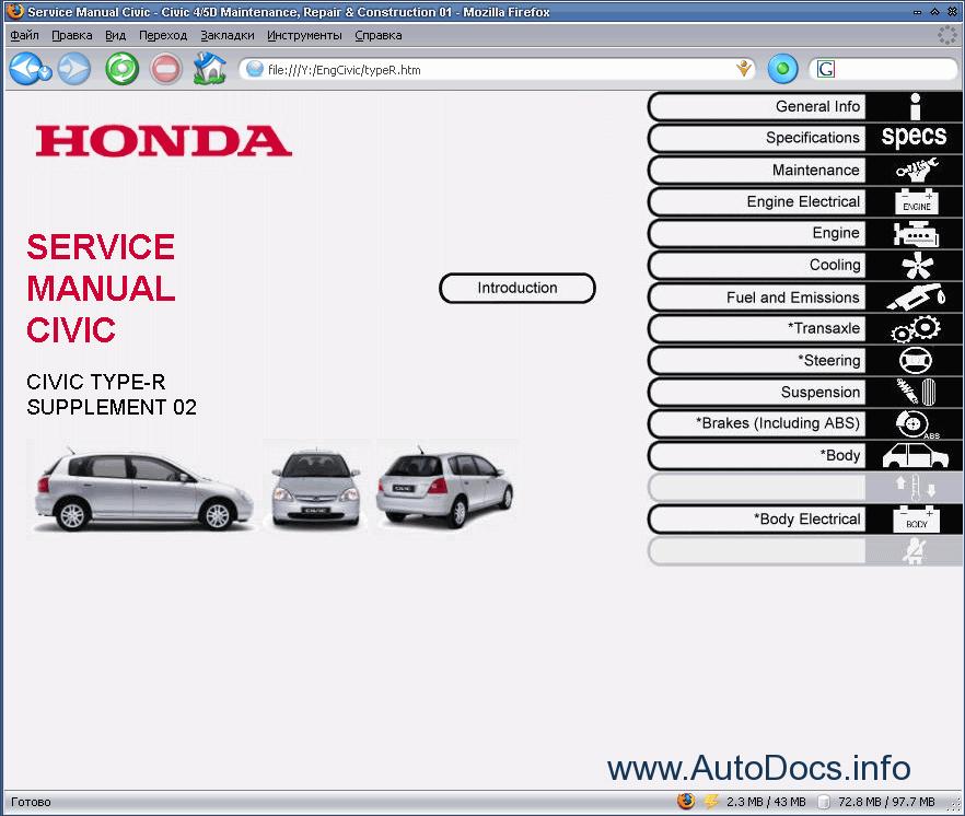 Honda Civic Ep3 Hatchback 2002