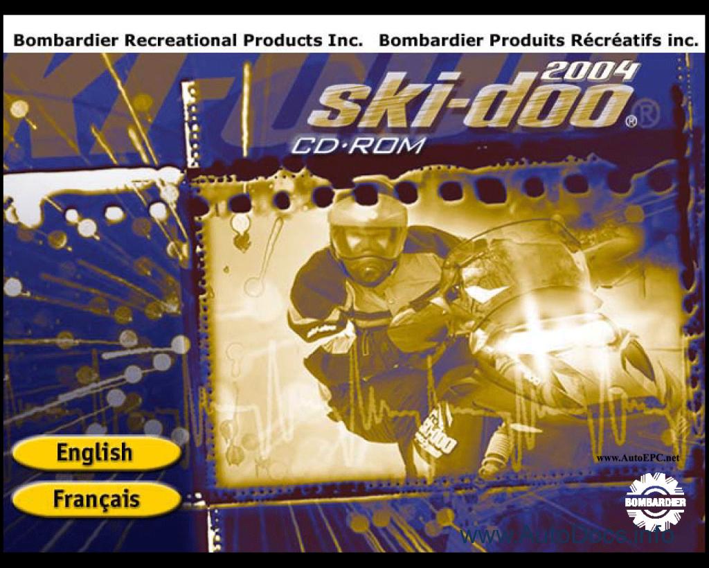 Bombardier Ski Doo 2004 Parts Catalog Repair Manual Order