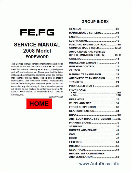 Mitsubishi Fuso 2012 Service Manual Repair Manual Order