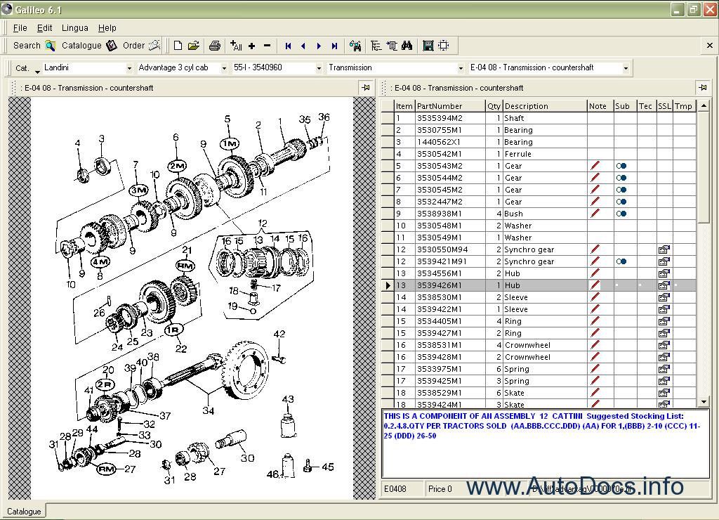 landini galileo 2009 parts catalog order  u0026 download