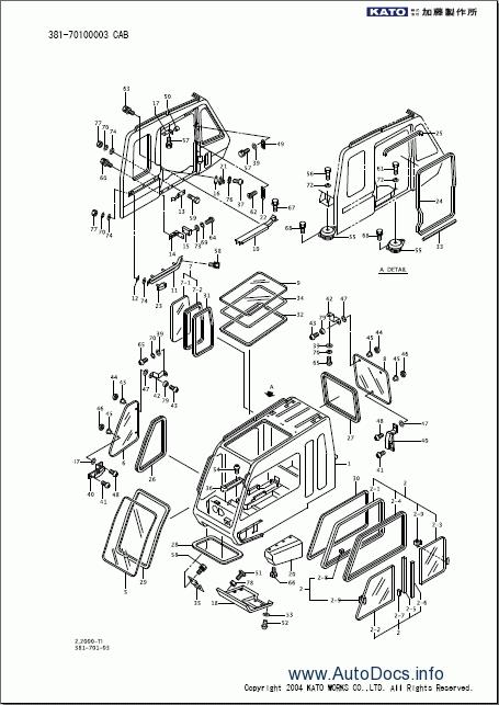 Kato Sr 250sp V Kr 25h V3 Manual Jib X Type Outrigger Parts