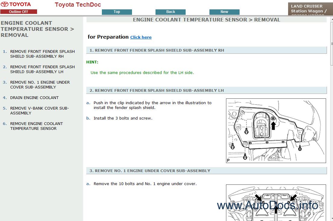 Toyota Land Cruiser V8 200 Service Manual Repair 1998 Engine Diagram Manuals 1