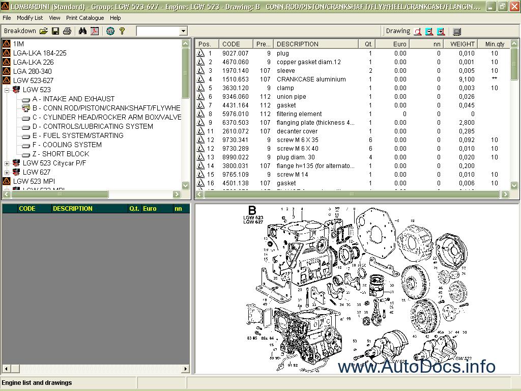 Lombardini Parts Catalog Order  U0026 Download