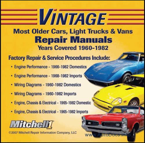 Mitchell On Demand  U201cvintage U201d  Repair And Wiring Manuals
