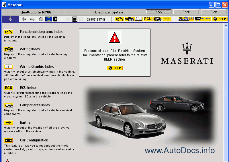 Maserati Quattroporte My06 Parts Catalog Repair Manual