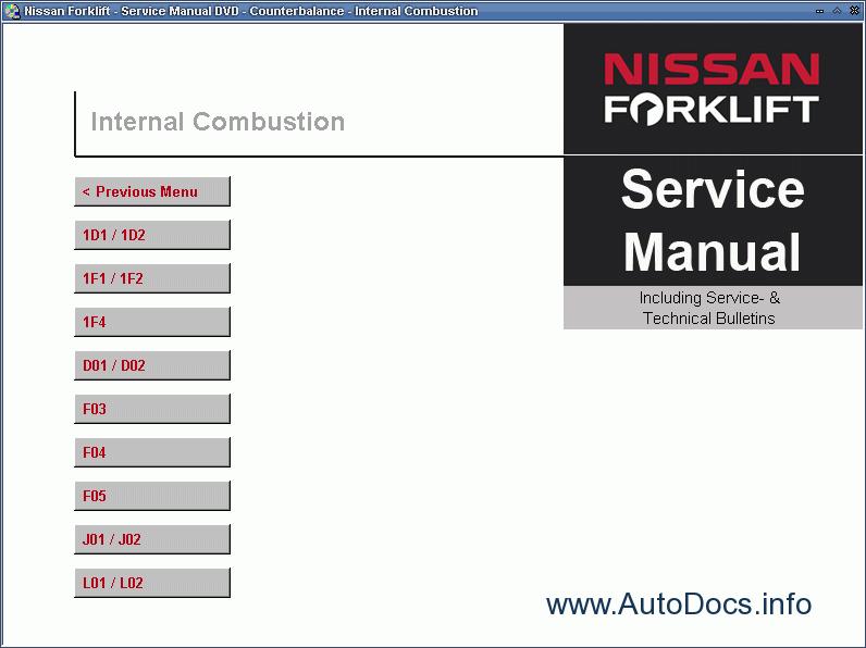 nissan forklift service manual repair manual order download rh autodocs info Nissan Forklift Shop Manual Nissan 60 Forklift Operators Manual