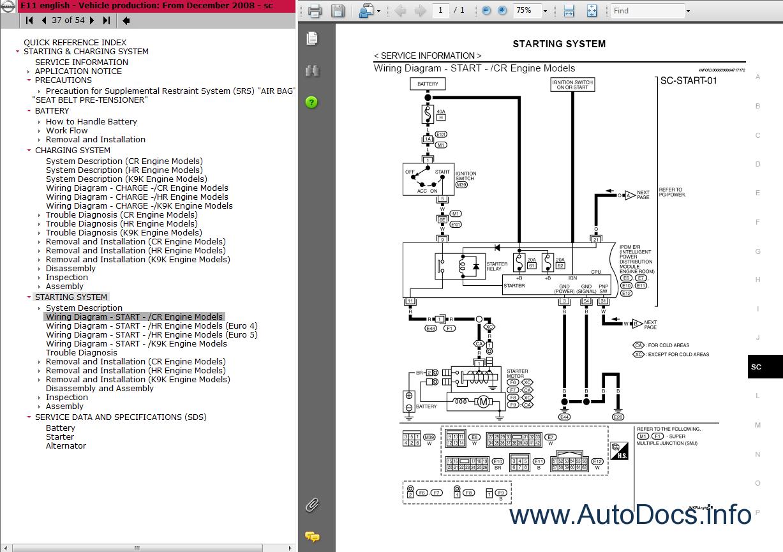 Nissan Note Wiring Diagram Versa E11 Series Repair Manual Order Download Rh Autodocs Info Stereo 2006