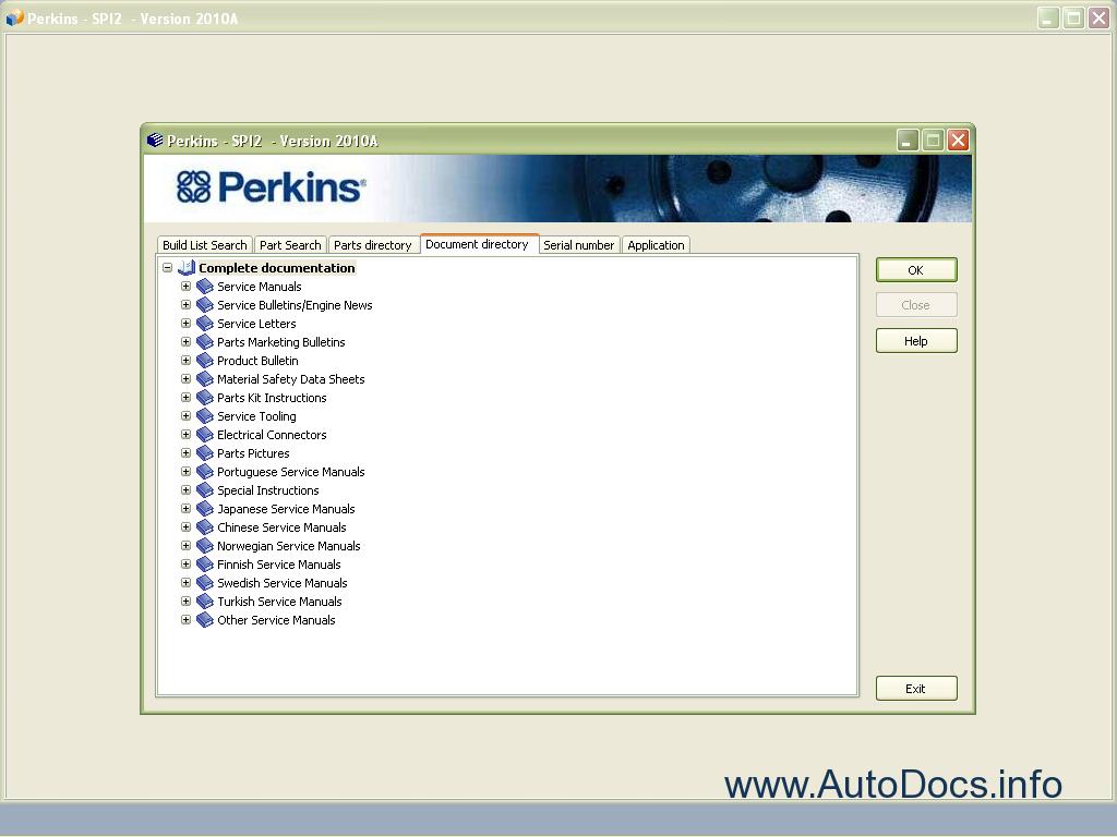 perkins spi2 201a spare parts catalog perkins  parts book