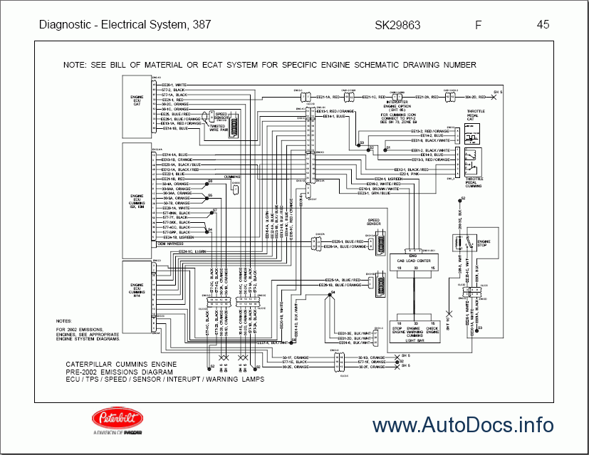 peterbilt electrical system wiring diagram repair manual order