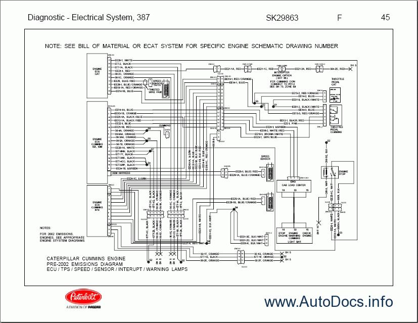 peterbilt electrical system wiring diagram repair manual order
