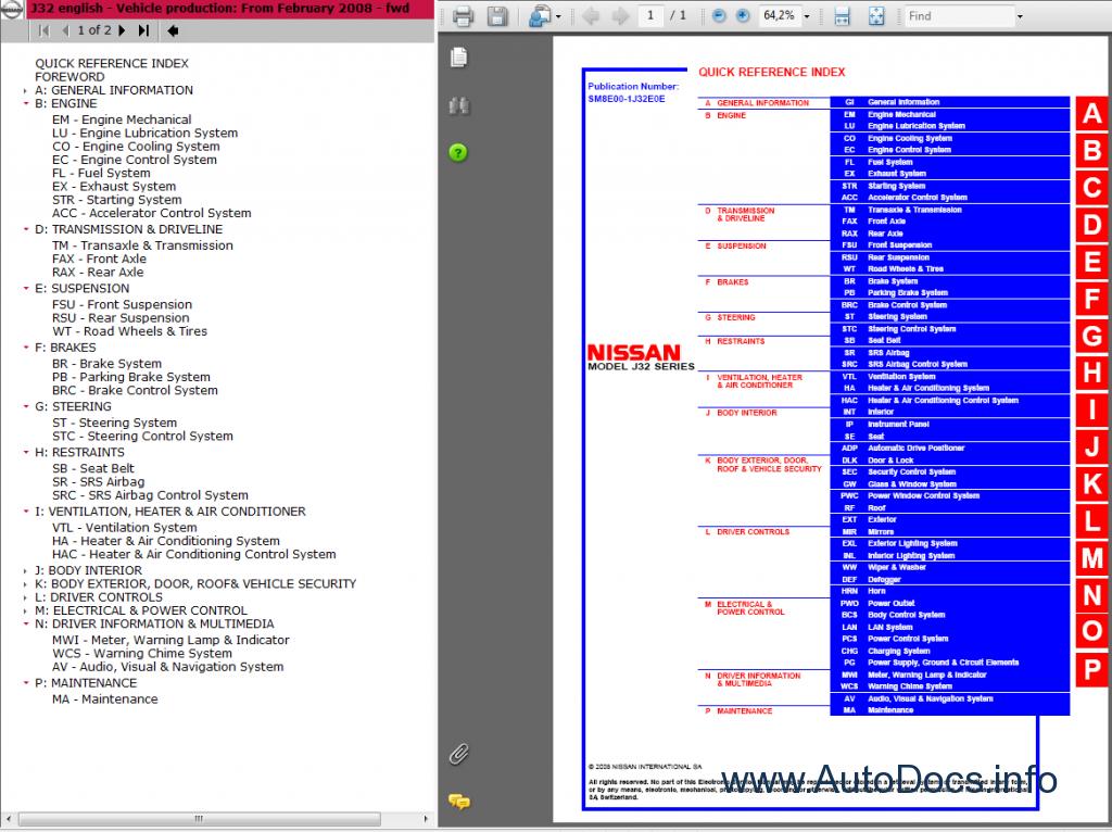 repair manuals nissan teana j32 ����� service manual 2008-2010