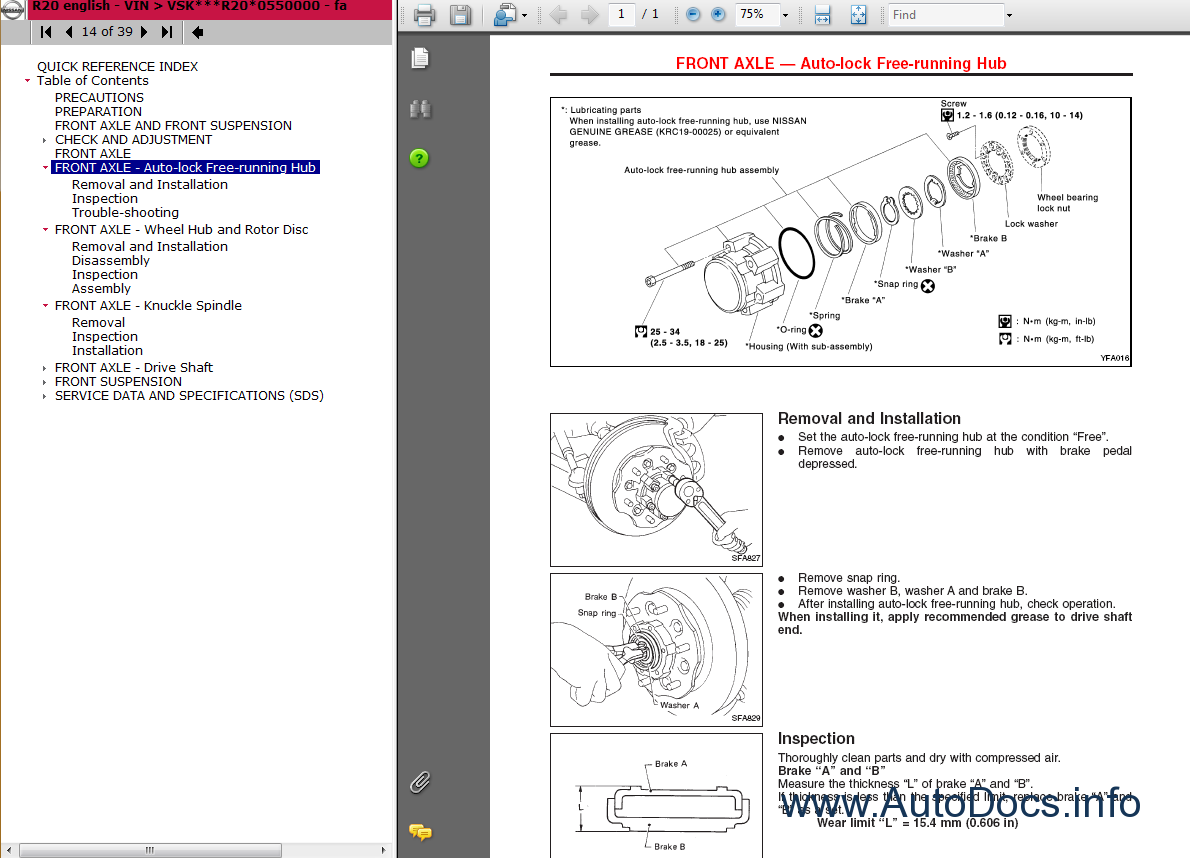 Nissan    Terrano     R20            Service Manual repair manual