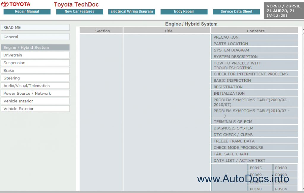Toyota Verso Service Manual Repair Manual Order Amp Download border=