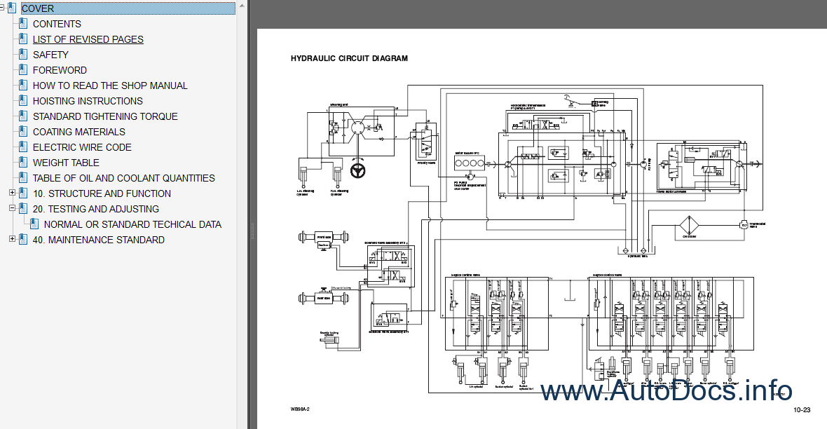 Komatsu WB98A-2 Backhoe Loader Service Manual repair manual ... on