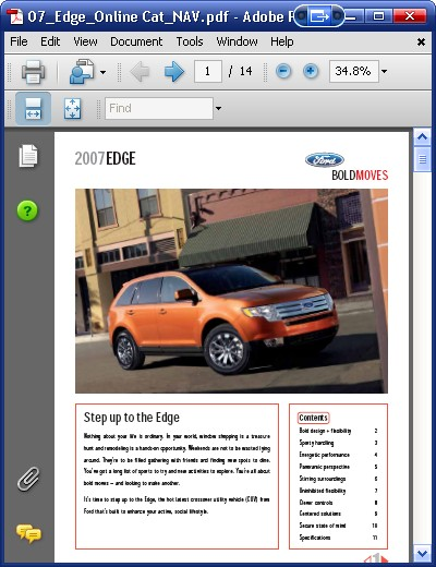 Ford Edge 2007 Order Amp Download border=