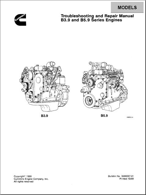 cummins b3 9 and b5 9 series engines order  u0026 download