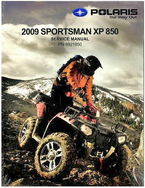 polaris sportsman xp 850 2009 service manual repair manual. Black Bedroom Furniture Sets. Home Design Ideas