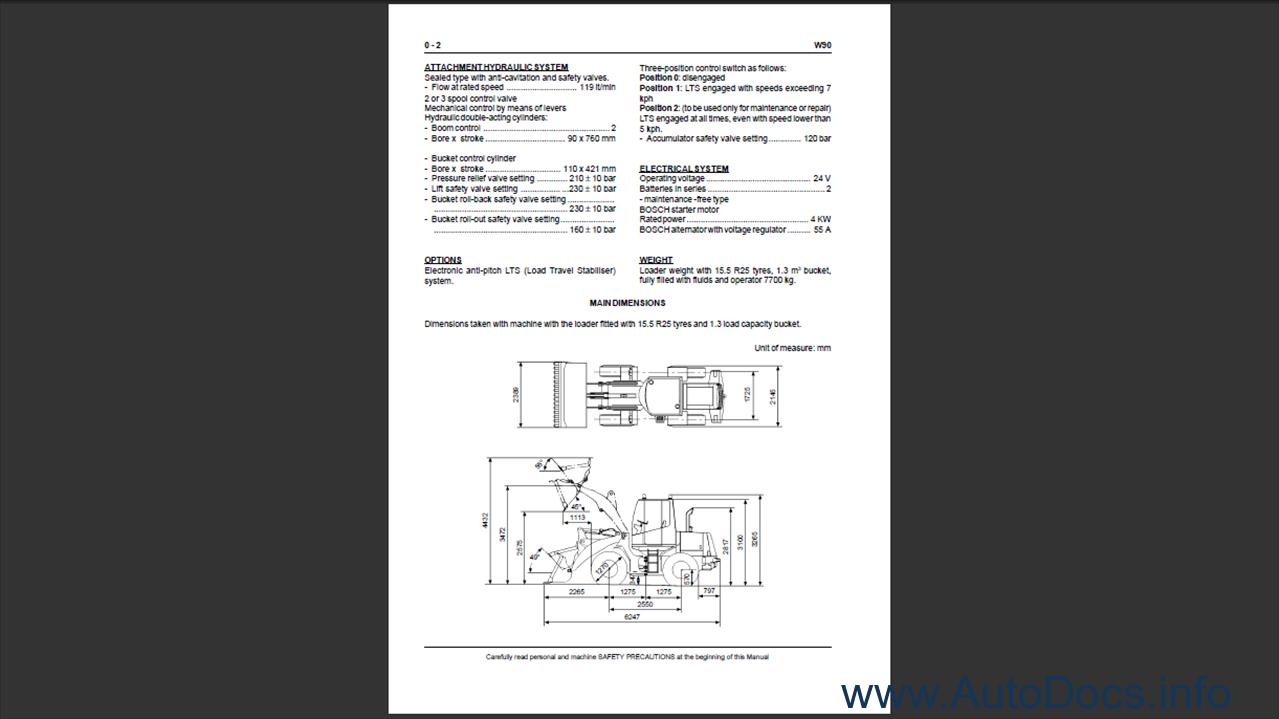 Fiat Kobelco W90 Wheel Loader Order Download Wiring Diagram 1