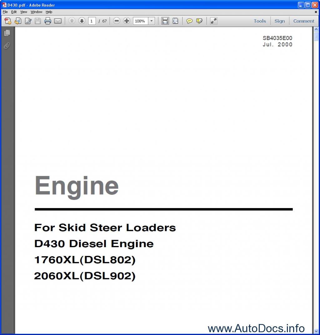 Doosan D430 Diesel Engine 1760xl Dsl802  2060xl Dsl902