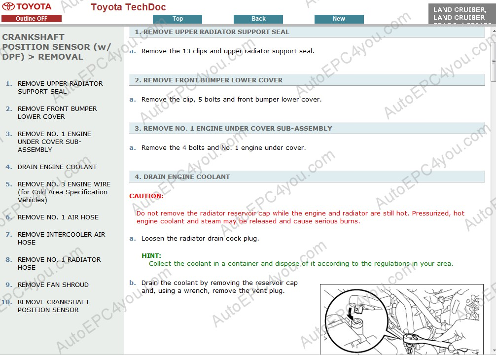Toyota Land Cruiser Prado 150 Service Manual Eng Repair Manual Order  U0026 Download