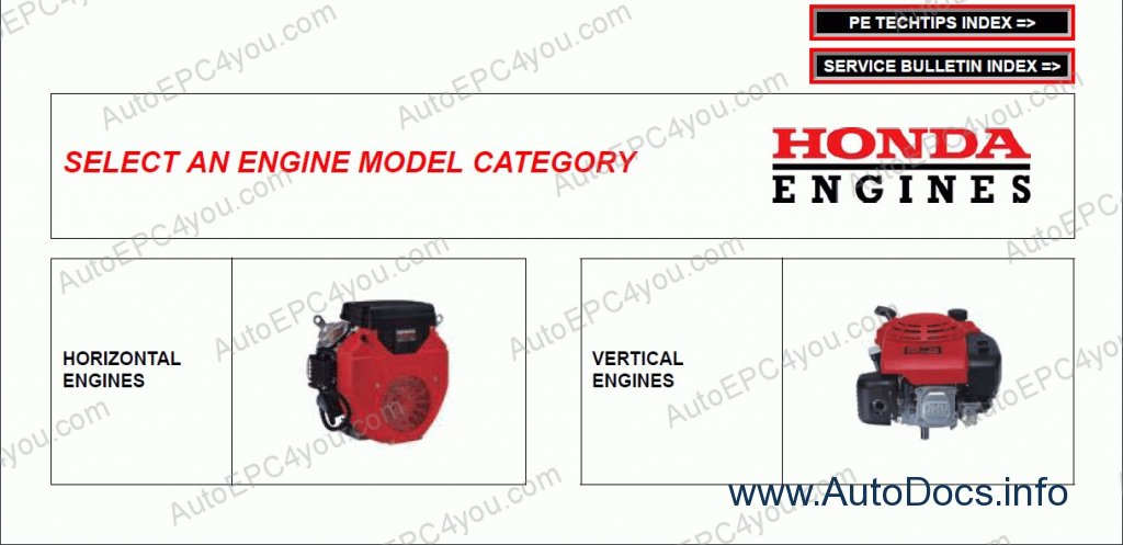 Honda Engine Workshop Service Manuals repair manual Order & Download
