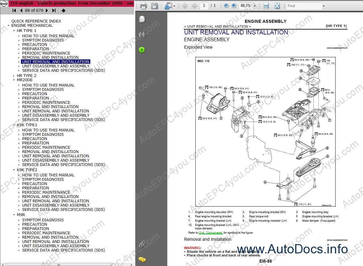 nissan electronic parts catalogue