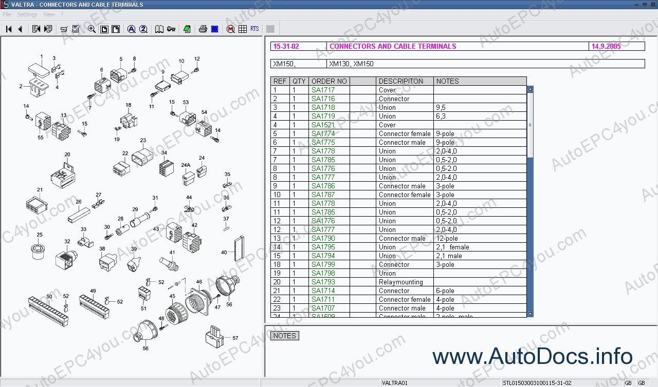Valtra Vision Lexcom spare parts catalog 2013