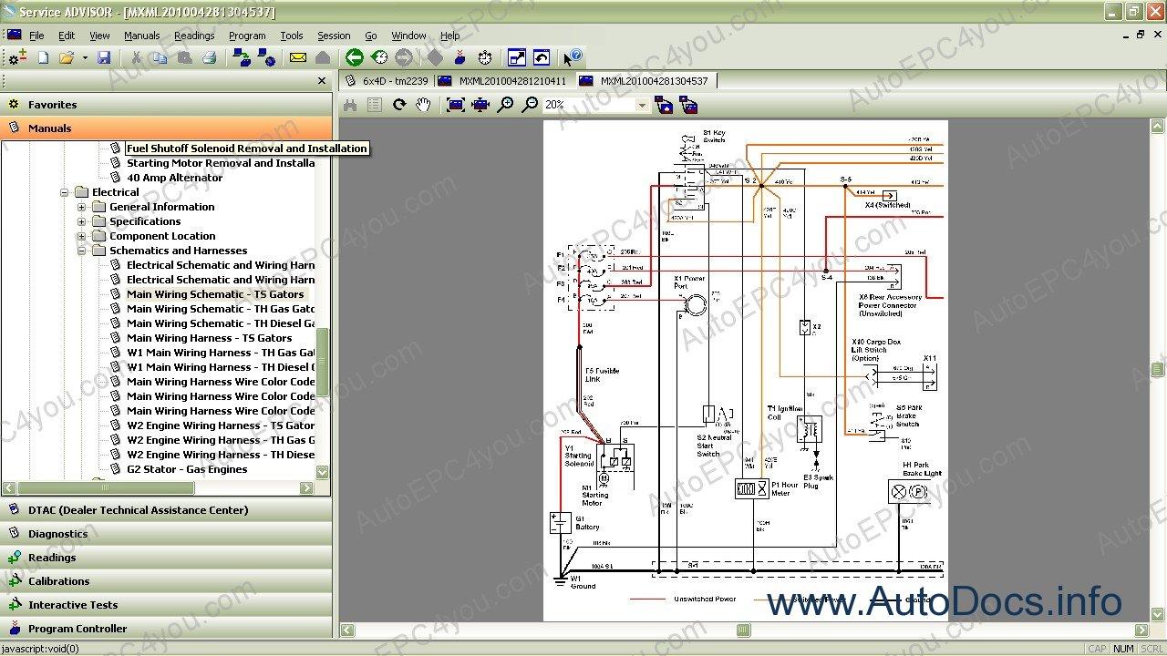 Wiring Diagram John Deere X300 : John deere wiring diagram