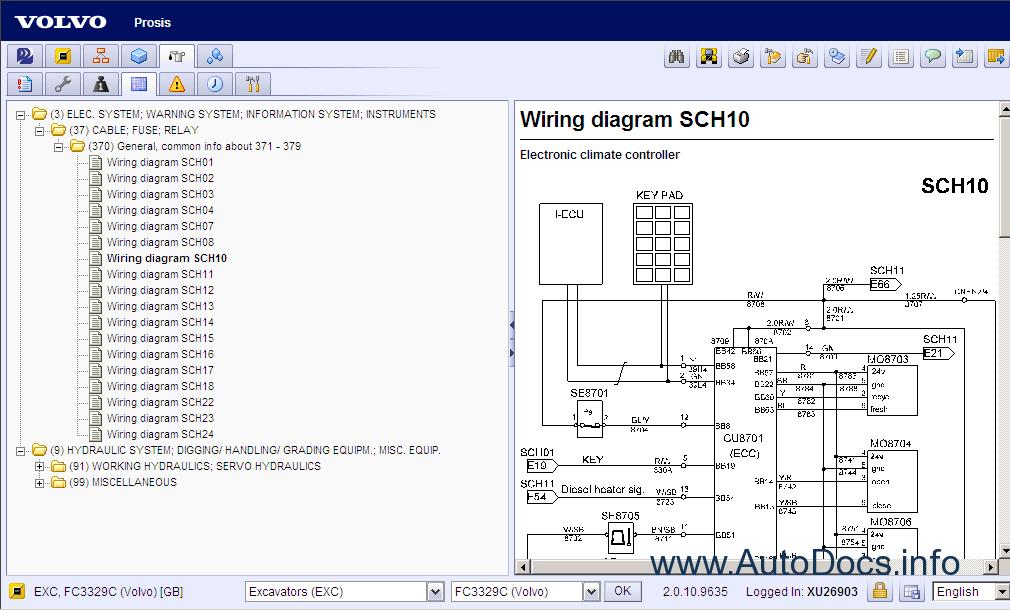 volvo prosis 2012 volvo l20 loader wiring diagram #7