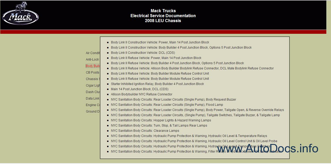 mack trucks electrical service documentation. Black Bedroom Furniture Sets. Home Design Ideas