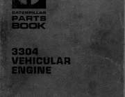 Spare parts catalogue and repair manuals Caterpillar 3304 Vehicular Engine Parts Book + Systems Operation Testing & Adjusting + Specification