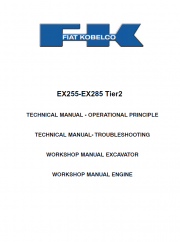 Repair manuals Fiat Kobelco EX255 - EX285 Tier2 Excavator Workshop Manual PDF
