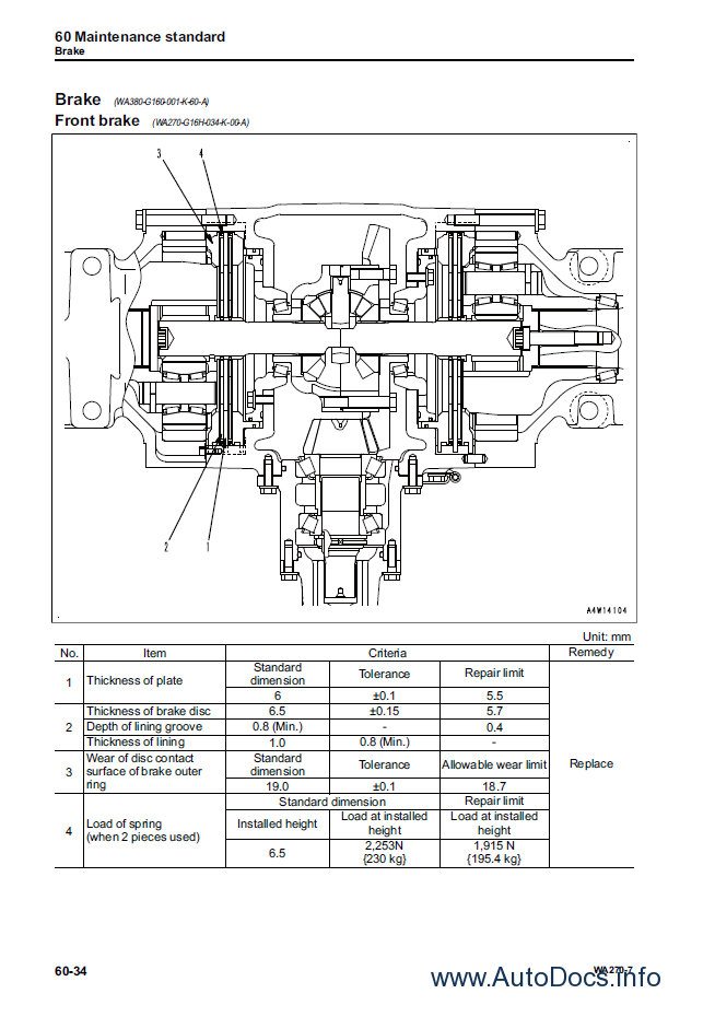 Komatsu WA270-7 Wheel Loader + USA Shop Manual PDF