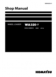 Repair manuals Komatsu WA320-7 Wheel Loader + USA Service Manual PDF