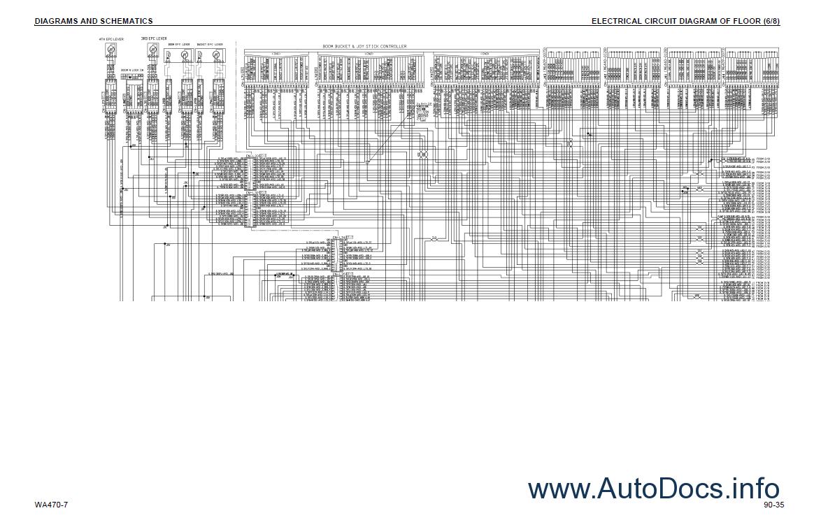Komatsu WA470-7 Wheel Loader + USA Shop Manual PDF