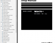 Repair manuals Komatsu WA470-7 Wheel Loader + USA Service Manual PDF