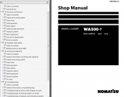 Repair manuals Komatsu WA500-7 Wheel Loader + USA Service Manuals PDF