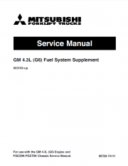 Repair manuals Mitsubishi GM 4.3L (G6) Engine Service Manual PDF