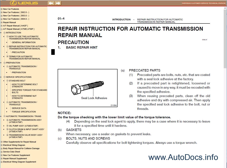 Lexus Lx470 Uzj100 Electrical Wiring Diagram Repair Manuals Manual Pdf 3
