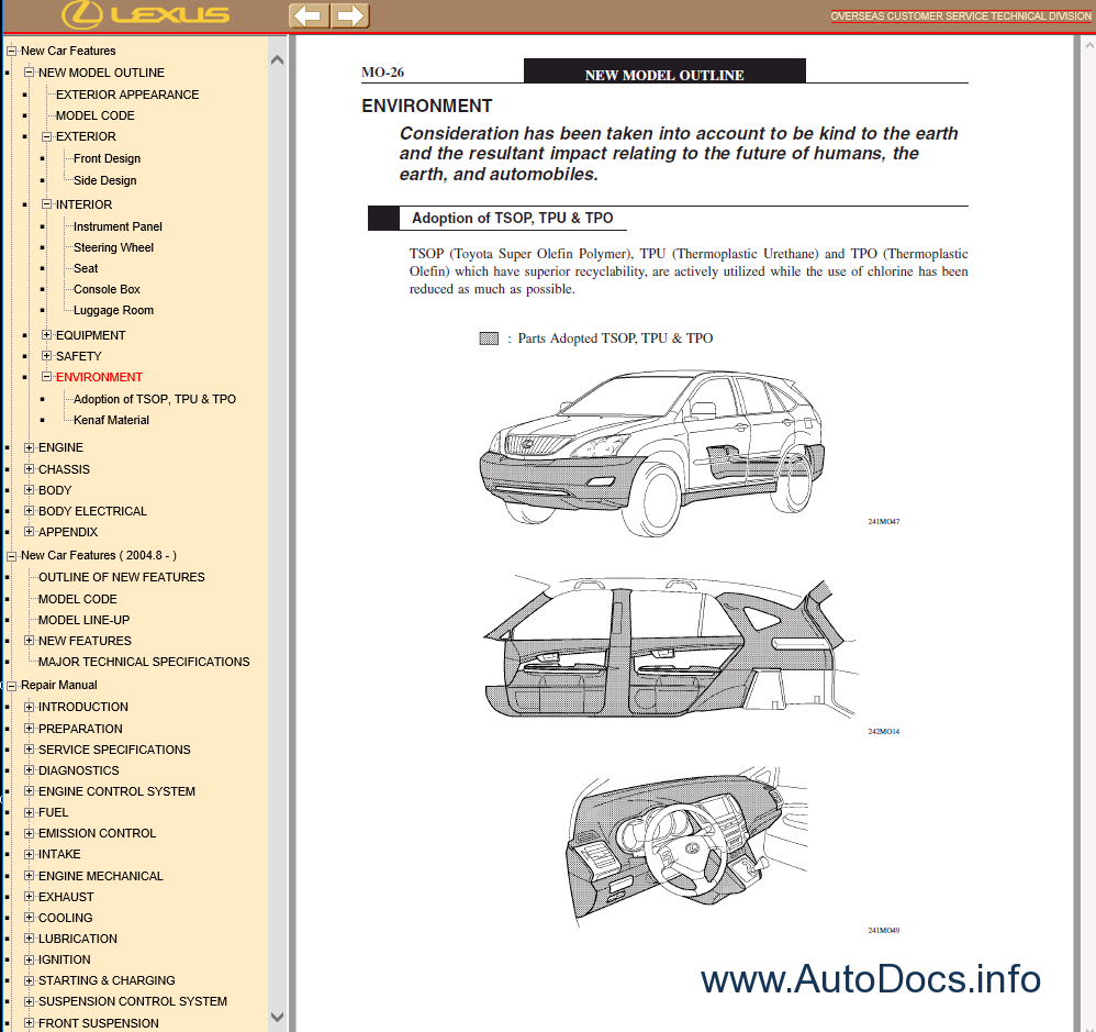 31 2004 Lexus Rx330 Parts Diagram