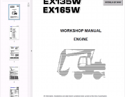 Repair manuals Fiat Hitachi Engine EX135W, EX165W Workshop manual