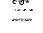 Repair manuals McCormick GX40-45-50 Tractors Service, Training Manual PDF