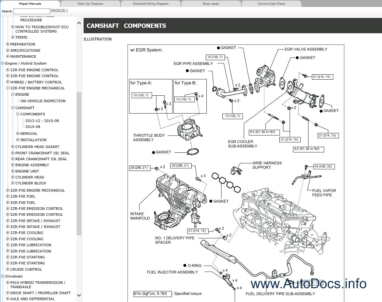 Lexus Ct200h Repair Manual 12 2013