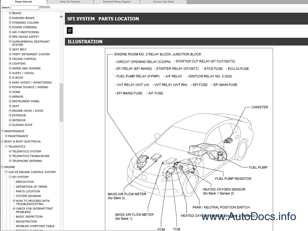 Lexus Ls460 Repair Manual 092012 082015 Electrical Wiring Diagram Manuals 09 2012 08 2015 3