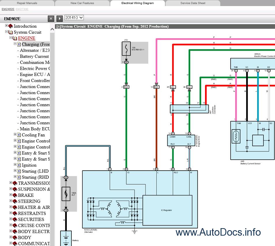 Lexus LS460 Repair Manual 09.2012-08.2015Auto Repair Workshop Manuals