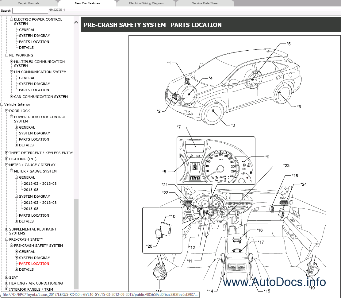 lexus rx450h gyl10  gyl15 repair manual 2012
