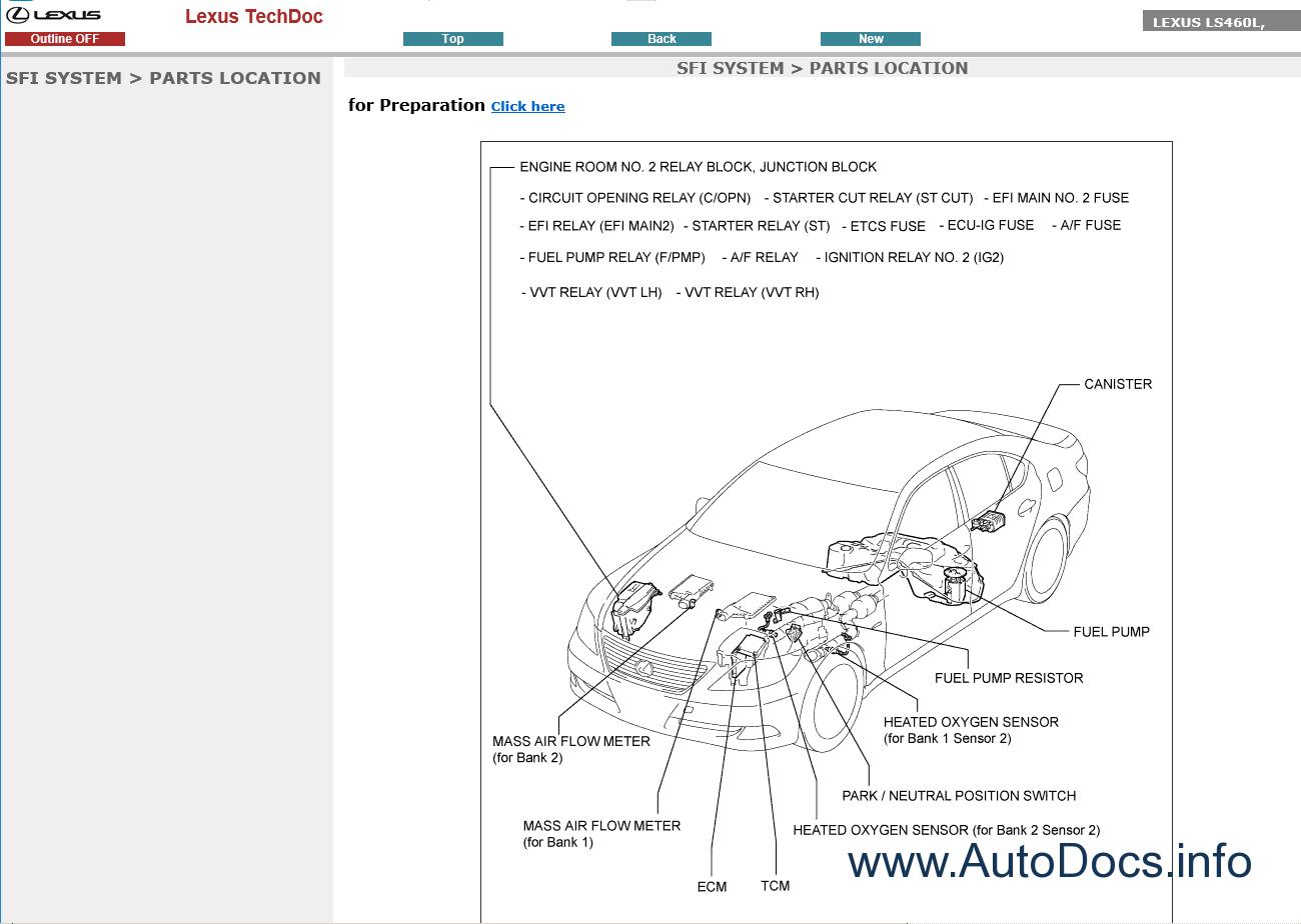 Lexus LS460 Repair Manual 09-2006/08-2011