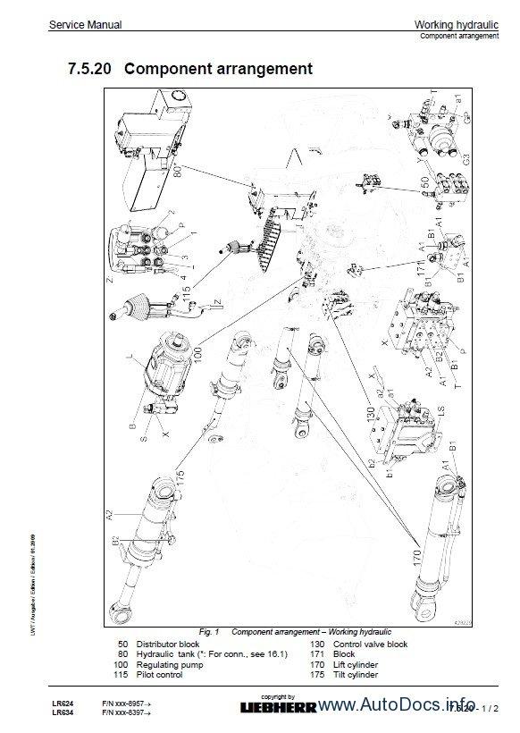 Liebherr LR624-634 crawler loaders workshop service manual