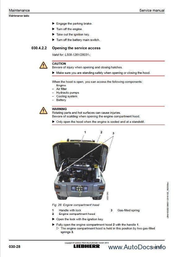 Download Liebherr L508 1261 Wheel Loader Service Manual